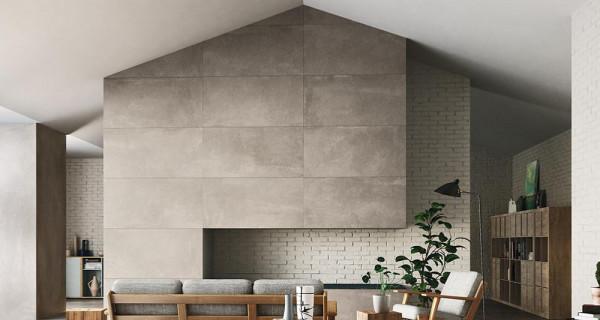 Carrelage 120x120 imitation béton pour sol et mur