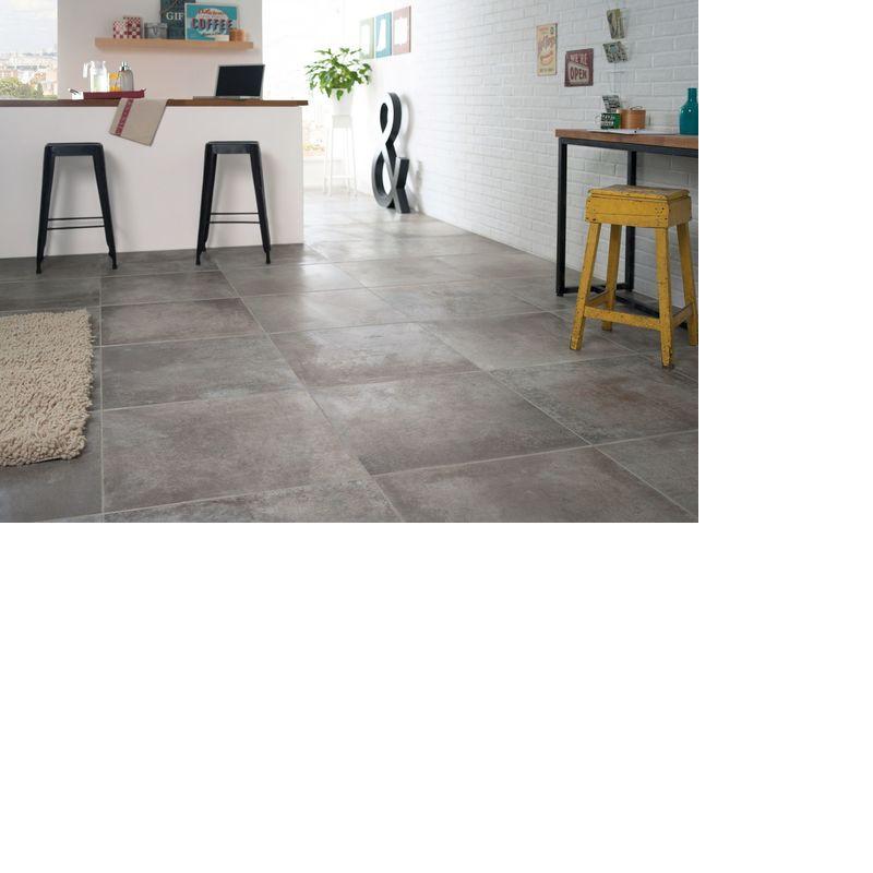 Carrelage 60x60 imitation béton Cementi Taupe