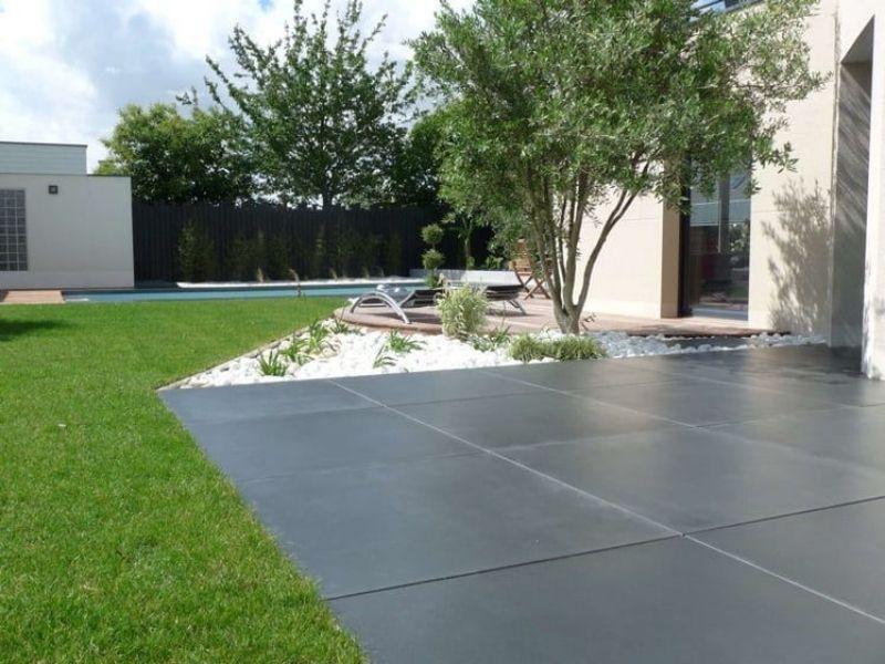 Carrelage terrasse grand format - Carrelage imitation béton