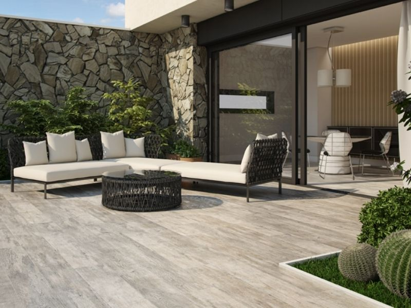 Carrelage terrasse - Carrelage imitation parquet